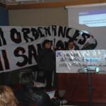 Protesta contra les ordenances de civisme i les multes que se'n deriven