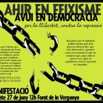 Dissabte manifestació antirepressiva a Barcelona