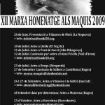 Cartell de la XII Marxa-Homenatge als Maquis