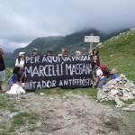 Imatge de la marxa en homenatge a Ponzan