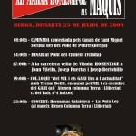 Cartell i programa de la Marxa-Homenatge als Maquis a Berga
