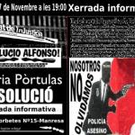 [Manresa] Dissabte xerrada sobre el cas de la Núria, el de l'Alfono i el del Pedro Àlvarez
