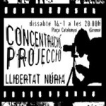 [Girona] Dissabte: concentració-projecció per la llibertat de la Núria