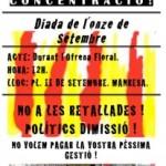 [Manresa] Dissabte concentració de la secció de la CNT a l'Ajuntament de Manresa