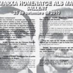 [25 de setembre] XIII Marxa-Homenatge als Maquis a Sallent