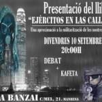 """[Manresa] Divendres presentació de """"Ejércitos en las calles"""" al ZTA Banzai"""
