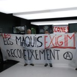 Crònica en imatges de la protesta al Memòrial Democràtic de Joan Busquets i totes les que s'hi solidaritzaven