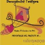 Dissabte, 23 d'octubre: Salut mental, deconstruïnt l'estigma. Presentació del projecte Radio Nikosia
