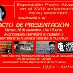 [Cornellà] Divendres presentació de l'expo sobre l'assassinat de Pedro Álvarez