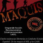 Xerrada sobre els maquis, els MIL i els GARI a Bogotà a càrrec de companys de la Bisbal i Berga