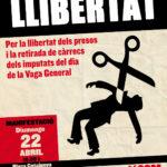 Diumenge manifestació a Barcelona per la llibertat de les detingudes de la vaga del 29
