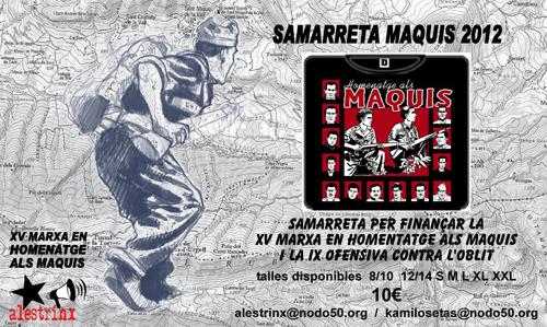 Samarretes de la Marxa-Homenatge als Maquis, 2012