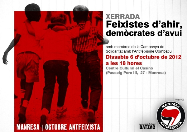 Xerrada sobre el feixisme institucional a Manresa el 6 d'octubre