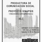 """Dissabte 20 d'octubre 19h: xerrada sobre el projecte video-digital """"Sinapsis"""" a la Tremenda"""