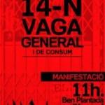 [Manresa-Berga] Actes convocats per a la Vaga del 14N