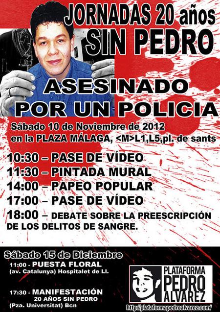 Cartell actes record Pedro Àlvarez del 2012