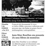 SUSPÈS acte d'avui amb Jann-Marc Rouillan a Berga
