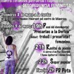 "8 i 9 de Març: ""Contra la ofensiva patriarcal i capitalista. Desobediència feminista!"""""