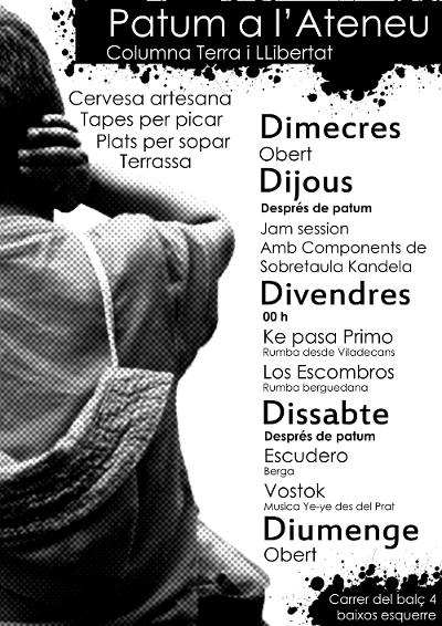 Cartell de l'Ateneu Columna Terra i Llibertat per la Patum 2013