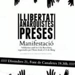 21 de juny: manifestació per la llibertat de les anarquistes preses