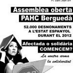 Assemblea de constitució de la Plataforma d'Afectades per la Hipoteca i el Capitalisme al Berguedà