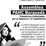 Cada divendres assemblea de la PAHC del Berguedà