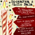 13 de juliol: festa d'aniversari de Ràdio Bala i l'Ecoxarxa a la Plaça Gispert