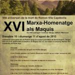 XVI Marxa-Homenatge als Maquis a l'Alt Llobregat i Cardener