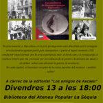 Divendres 13 a l'Ateneu la Sèquia: <em>La cocinera de Buenaventura Durruti</em>