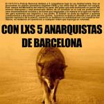 Del 16 al 22 de desembre: setmana de solidaritat amb els 5 anarquistes de Barcelona