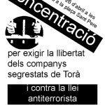 Concentració per la llibertat dels presos de Torà