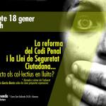 18 de gener: xerrada sobre les noves propostes repressives al CSO la Tremenda