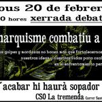 20 de febrer al CSO la Tremenda: xerrada-debat sobre l'anarquisme combatiu a Xile