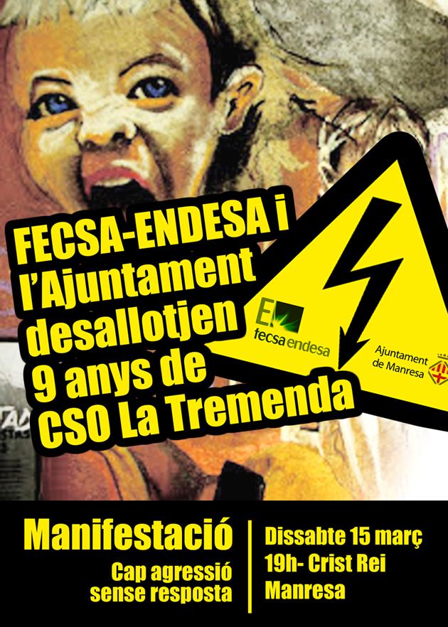 Manifestació de suport al CSO La Tremenda
