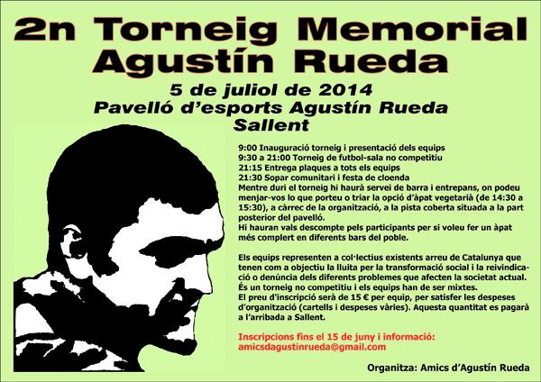 Cartell 2n Torneig Memorial Agustín Rueda