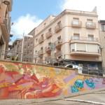 Nou mural contra les fronteres en el marc de la primavera llibertària