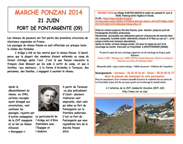 Marche PONZAN 2014