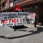 Nou escratxe per la llibertat sindical a Berga