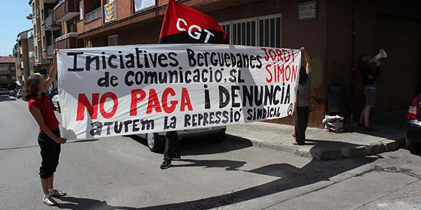 Dissabte 14 de juny, es va tornar a dur a terme un escratxe (el tercer) davant d'on viu Jordi Simon Perayre, per tal de protestar pels impagaments de la seva empresa i pel seu assetjament contra les llibertats sindicals.