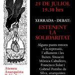 25 de juliol: debat interessant sobre repressió a l'Ateneu Anarquista del Poble Sec (Bcn)