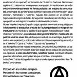 Exigim la Llibertat de les companyes: octaveta repartida pels carrer de Manresa