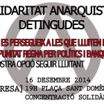[Urgent] Concentració en solidaritat amb les companyes detingudes