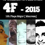 [Manresa] 4F – 2015 Quan regna la impunitat i la injustícia. Ni oblidem, Ni perdonem