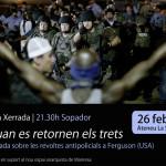 """26 de febrer: xerrada """"quan es retornen els trets"""" + sopador llibertari"""