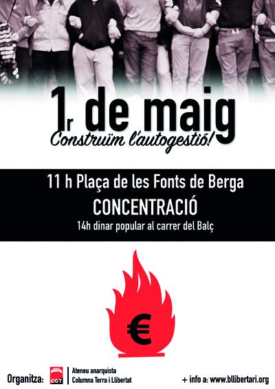 Cartell Primer de Maig a Berga 2015