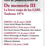 Gira de presentació del darrer llibre de Jann-Marc Rouillan