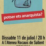Presentació de la Federació Anarquista de Catalunya a Sallent
