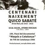 [Sallent] Centenari del naixement del Quico