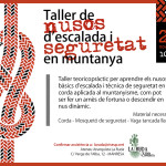 21 novembre | Taller de nusos i seguretat en corda