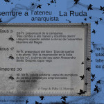 Activitats de desembre a l'Ateneu Anarquista la Ruda